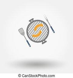 Grill menu symbol.
