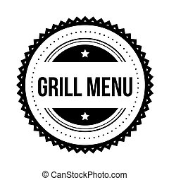 Grill menu vintage stamp vector