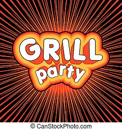 Grill party design.