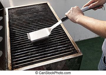 grill, poetsen