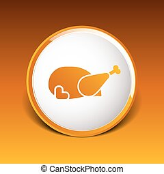 Grill Restaurant Logo design vector template icon