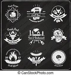 Grill Restaurant Vintage Emblems