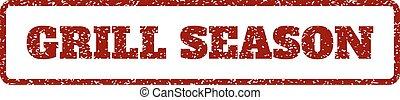 Grill Season Rubber Stamp