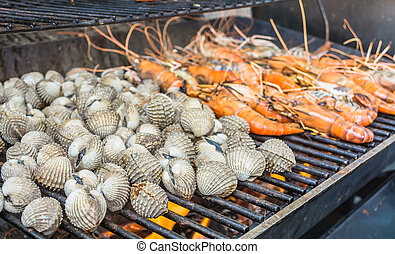grill shrimp and shellfish
