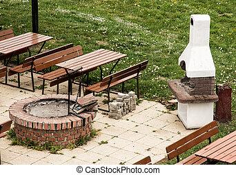 mauerstein kaminofen stein gartenterasse stein. Black Bedroom Furniture Sets. Home Design Ideas