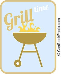 Grill time - vector illustration