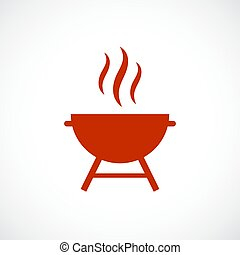 grill, wektor, barbeque, ikona