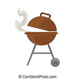 Grill with steam