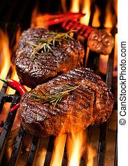 grill, wołowina, płaty