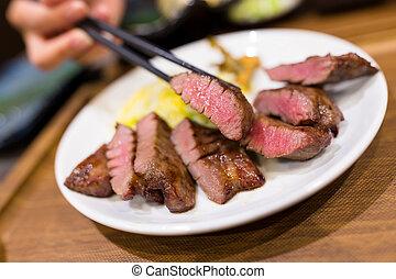 grillat, nötkött, restaurang