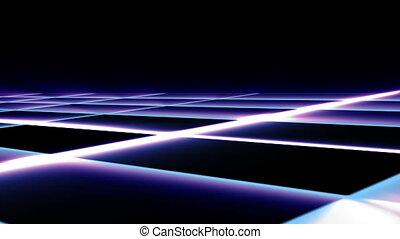 grille, étape, éclat, mouvement, lumière