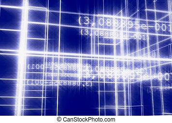 grille, chiffre, construction