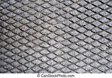 grille, retrait, ciment, asphalte