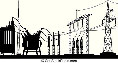 grille, sous-station, puissance