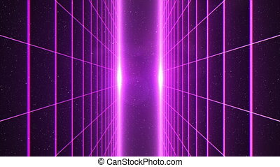 grille, vers, en mouvement, appareil photo, vertical, ...