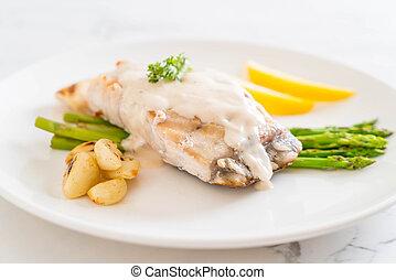 grilled 魚, ステーキ, スナッパー