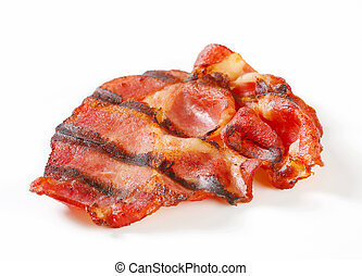 Crispy grilled slices of bacon