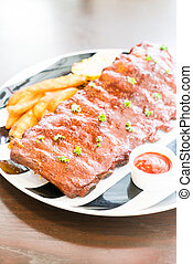 Grilled barbecue pork with sweet sauce