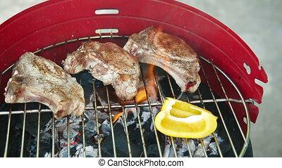 Grilled BBQ Pork Steak