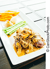 Grilled beef meat steak