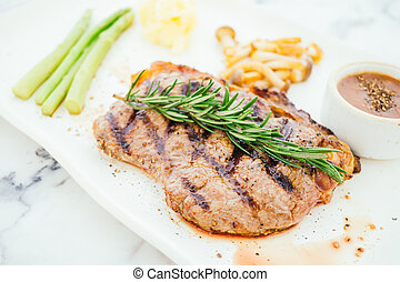 Grilled beef meat steak