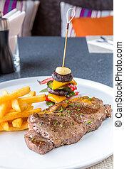 Grilled beef steak