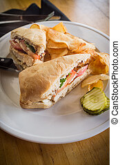 Grilled Caprese Chicken Sandwich - Grilled chicken panini...