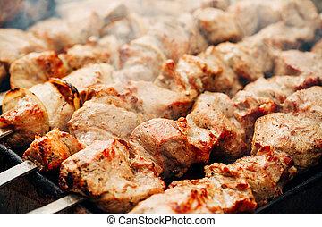 grilled caucasus barbecue - Grilled marinated caucasus...