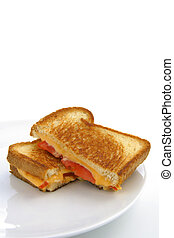 Grilled cheese and tomatoe sandwich