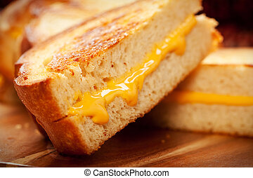 Grilled Cheese Sandwich - Toasted crispy on the outside, ...