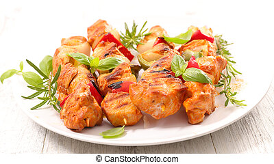 grilled chicken and vegetable
