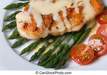 Grilled chicken breast with asparagus, macro.? - Grilled...