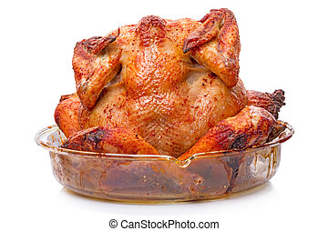 Grilled chicken carcass