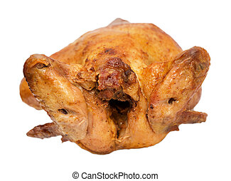 grilled chicken on a white background