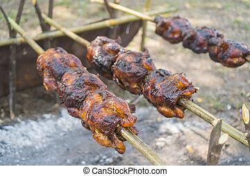grilled Chicken on field