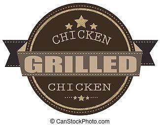 grilled chicken stamp