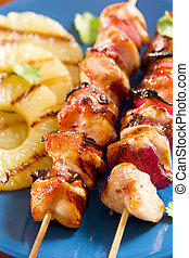 Grilled chicken with pineapple