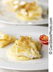 grilled cod on a plate