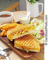 Grilled Cuban sandwich - Grilled cuban sandwich with ham,...