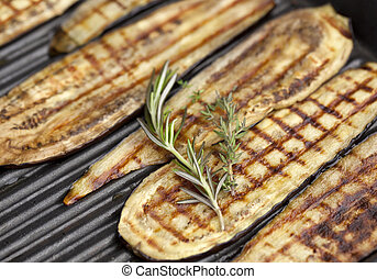 Grilled Eggplant - Grilled eggplant with rosemary and thyme