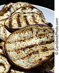 Grilled eggplant - Grilled slices of eggplant