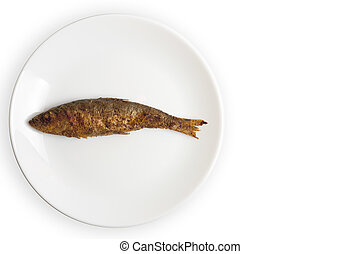 grilled fish on a white plate