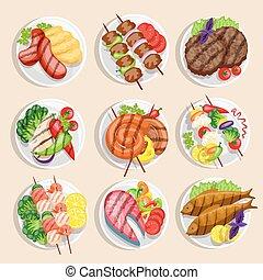 Grilled Food Set