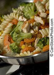 grilled garlic chicken food