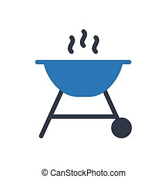 grilled  glyph color icon
