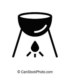 grilled  glyph flat icon