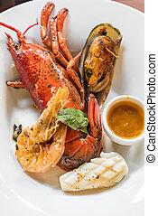 Grilled Halved Lobster Tails