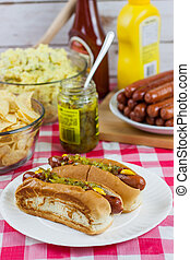 Grilled Hot Dogs
