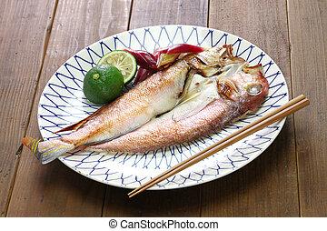 grilled japanese tilefish