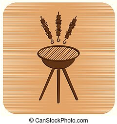Grilled kebab icon